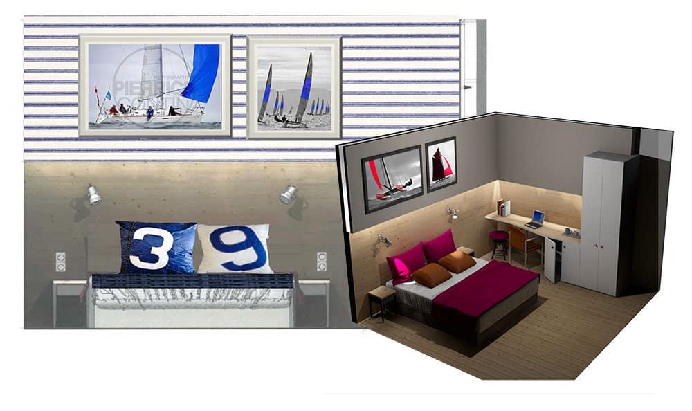 Rénovation des chambres de l'hotel