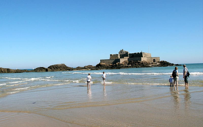 Saint-Malo : plage de l'eventail