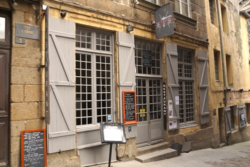 Restaurant L'Absinthe à Saint-Malo