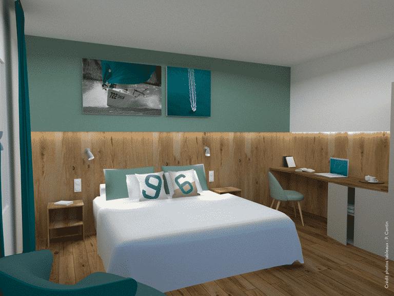 renovation des chambres de l'hotel