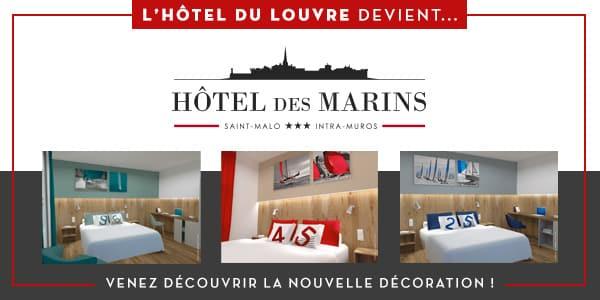 L'Hôtel du Louvre devient l'Hôtel des Marins à Saint-Malo